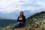 That's me!  Oh yeah, Mt. Elbert is the pointy mountain in the background.